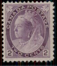 CANADA #76 2¢ purple, og, NH, VF, Scott $80.00