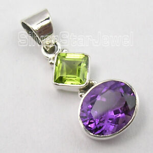 Solid Sterling Silver 6 x 6, 6 x 9 mm 2.7 TCW Pendant Christmas Gifts Sales