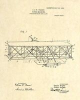 Official Wright Brothers US Patent Art Print - Vintage Antique Aviation - 7