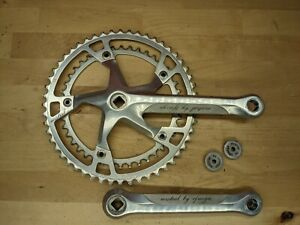 Vintage Mistral by Ofmega Road Crankset Italy 1980s 52/42T 170mm w/ dustcaps O2