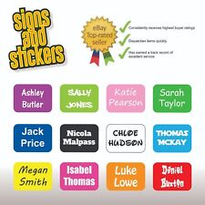 100 Personalised Kids Childrens Name Stick On Stickers Labels School Waterproof