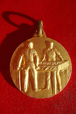 Rare Old Italy Football Table Bronze Sport Sign Award Prize Medal