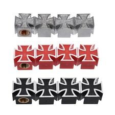 4pcs Iron Cross Car Auto Bike Tire air Valve Stem Caps Wheel Rims Dust Cover
