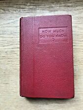 HOW MUCH DO YOU KNOW?., Wheeler, Harold (ed.)., Used; Very Good Book