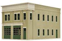 WALTHERS CORNERSTONE HO SCALE 2-BAY FIRE STATION KIT KIT 933-4022
