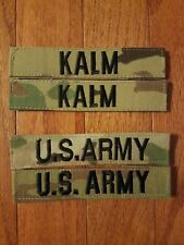 "US Army ""Kalm"" Nametag / Name plate sew-on OCP patch set  (4 piece set)"