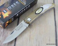 JOKER KNIVES MADE IN SPAIN SLIPJOINT FOLDING KNIFE GENUINE HORN HANDLE