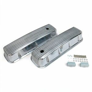 Vintage Finned Valve Covers w/ Breather HolesBig Block Chevy