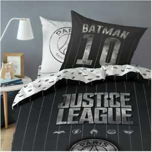 Parure de lit  Housse de couette Psg Justice League Batman 140x200 cm + taie