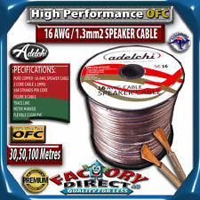 50m High Performance 16Awg Gauge 1.3mm2 Ultra Pure OFC Audio Cable Speaker Wire
