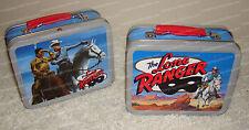 Tin LONE RANGER (2001 Mini Lunch Boxes, Set of 2) Cheerios Advertising Promotion