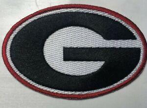"Georgia Bulldog patch ga patch GA iron on or sew on 3 3/8"" wide bulldogs patches"