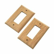 Whitecap Teak Ground Fault Outlet Cover Receptacle Plate - 2 Pack