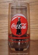 NOS 2004 COCA-COLA 16oz WATER/SODA GLASS - BOTTLE BUTTON DISC SIGN LOGO