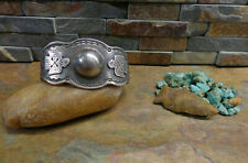 LARGE OLD NAVAJO CONCHO STERLING 2 THUNDERBIRD CUFF NATIVE OLD PAWN FRED HARVEY