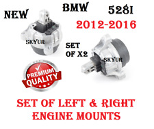 Left & Right Engine Motor Support Mount Set Of X2 For 12-16 BMW F10 528i PREMIUM