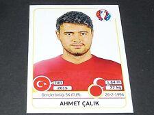 AHMET CALIK TURQUIE TÜRKIYE EXTRA STICKER PANINI FOOTBALL UEFA EURO 2016