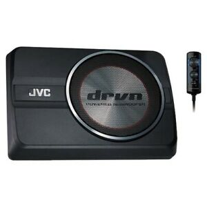 """JVC CW-DRA8 8"""" Amplified Underseat Subwoofer"""