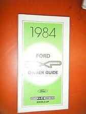 1984 Ford Exp Original Operators Owners Manual Guide