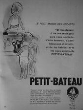 PUBLICITÉ DE PRESSE 1953 PETIT-BATEAU CULOTTES ET SOUS-VÊTEMENTS - ADVERTISING
