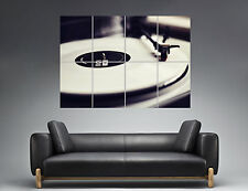 RECORDS VINYL DJ PLATINE  Wall Art Poster Grand format A0 Large Print