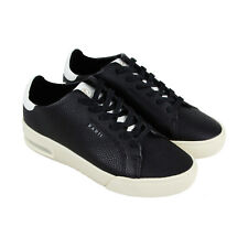premium selection 6b06c 62b3f Radii Square Mens Black Synthetic   Leather Low Top Lace Up Sneakers Shoes