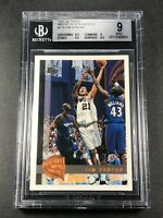 TIM DUNCAN 1997 TOPPS #115 MINTED IN SPRINGFIELD ROOKIE RC BGS 9 W/2 9.5 SUBS