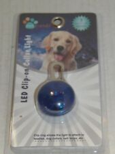 PET TRENDS - LED CLIP ON COLLAR LIGHT / 3 LIGHT UP MODES - BLUE   (RM-1-PO-82)