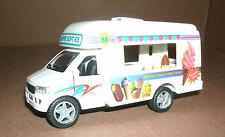 1/45 Scale Ice Cream Vending Food Truck Model Pull Friction Toy - Kinsfun KS5253