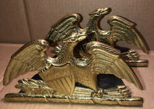 1952 Solid Brass Spread Eagle Bookends Va Metalcrafters Book End Set