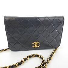 Chanel Vintage Black CC Logo WOC Wallet On Chain Gold Shoulder Bag Gold 55815581