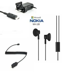 Genuine Microsoft / Nokia Mains & Car UK Micro Charger Bundle Lumia 1020 630 152