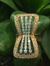 Pave 2 Cts Rond Brillante Couper Diamants Fiançailles Bague En 585 Solide 14K Or