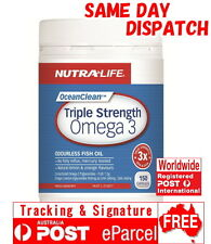 Nutra Life Triple Strength Omega 3 150 Capsules Concentrated Fish Oil EPA DHA