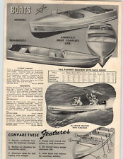 1953 PAPER AD Admiral Aluminum Outboard Motor Boat 16' Speed King 14' Deluxe