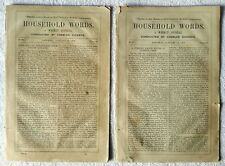 2 x Household Words by Charles Dickens 10 Jan 1852 No. 94 + 17 Jan 1852 No. 95