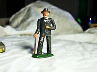 Antique Vintage Manoil Barclay Metal Figure Figurine Man With Cane #619