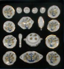 Dolls House Miniatures Porcelain 17piece Dinner Set [1:12 Scale] [New]