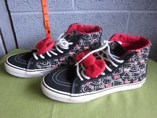 HELLO KITTY women's tennis shoes Vans Sk8-Hi Slim size 8.5 high trainers anime