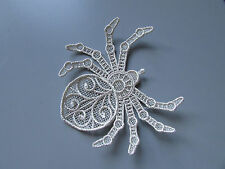 Silver Embroidered Spider Applique Sewing/Costume/Crafts/Victorian (Any Colour)