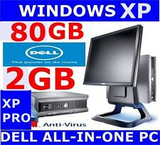 "Dell Optiplex Dell Tout en Un Ordinateur PC 17"" Moniteur ✔ Windows XP Souris/keybd"