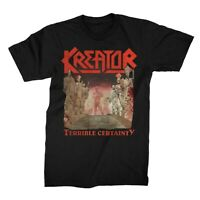 KREATOR cd cvr TERRIBLE CERTAINTY Official SHIRT MED New german thrash metal