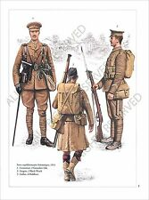 PLANCHE UNIFORM PRINT WWI ENGLAND BRITISH ARMY UNITED KINGDOM Royaume Uni