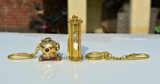 BRASS KEY RINGS HANDCUFF,KEY RING DIVERS HELMET WITH KEY RING SAND TIMER