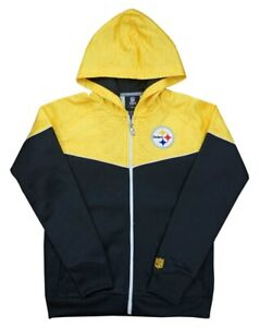 Pittsburgh Steelers NFL Youth Break Point Black/Gold Full-Zip Hooded Sweatshirt