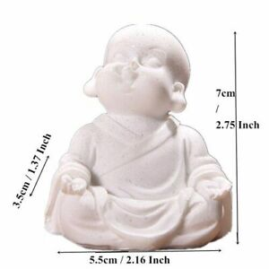 Cute Little Monk Statue Sandstone Adorable Thailand Buddha Statuettes Lovely New