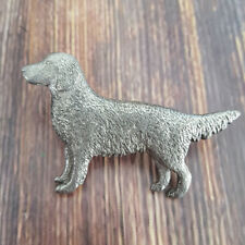 GG Harris pewter brooch Golden Retriever pin dog brooch