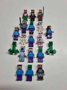 Lego minifigures Minecraft collection   (J4)