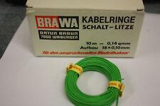 BRAWA KABELRING SCHALT-LITZE GRÜN 10 m 0,14QMM NEU! HB08
