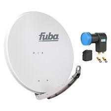 FUBA DAA 850 G + Opticum Twin LNB SAT Spiegel Schüssel grau Alu Antenne 85 cm